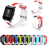 20mm Three-colour Waves Shape Watch Band Strap Replacement for Xiaomi AMAZFIT Bip Pace Youth Non-original