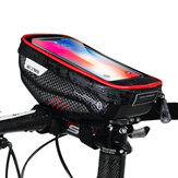 WILD MAN Bicycle Handlebar Bag Touch Screen Phone Package Rainproof Front Tube Bag MTB Road Bike Accessories