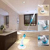 Telhas de banheira recarregáveis Power Floor Cleaner Escova Ferramentas para esfregonas telescópicas com cabo sem fio, com 3 cabeças substituíveis Escova