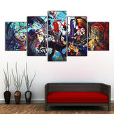 5Pcs Modern Abstract Farbeful Leinwand drucken Gemälde Home Wall Art Decor ungerahmt