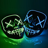 Halloween LED Máscara Purge Máscaras Election Mascara Costume DJ Party Light Up Máscaras Glow In Dark 10 cores para escolher