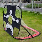 Children Sports Mobile Football Goal 210D Oxford Cloth Grid Net + Steel Wire Foldable Portable Football Net Kids Toys