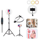 LED Ring Light Studio Fill Light Dimmable Lamp Tripod Stand Phone Clip For Photo Makeup Live Youtube Tiktok Streaming Broadcast