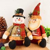 Noel Süslemeleri Yapay Ren geyiği Doll Flannet Noel Hediyeleri Oyuncakları Ev İçin Noel Süsleri