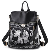 Sac à bandoulière en cuir PU National Elephant Backpack