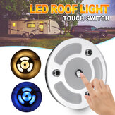 100mm Dimmable LED Reading Light Touch Dimmer Switch Blue+Warm White Day Night Car Roof Lamp for Caravan 10-30V