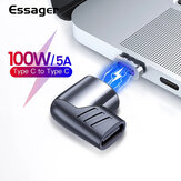 Essager 100W USB-C Magnetic Converter Adapter Type-C Male to Female Connector For Mackbook Pro Huawei P40 Mate 40 Pro