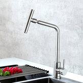 360 ° غير القابل للصدأ صنبور بالوعة الفولاذ بالوعة المطبخ الساخنة والباردة وجع خلط نمط صنبور