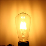 E27 ST64 8W Warm White Non-Dimmable COB LED Filament Retro Edison Bulbs 220V