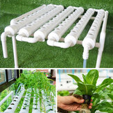 54 Holes Horizontal Hydroponic Piping Frame Rack Site Grow Kit Flow DWC Deep Water Culture Planting Box Pipe System
