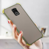 Bakeey for Xiaomi Redmi Note 9 / Redmi 10X 4G Case Armor Airbag Shockproof Anti-fingerprint Matte Translucent Hard PC&Soft Silicone Edge Protective Case