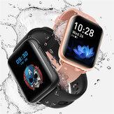 Bakeey LF27PLUS 1.69 pouces écran incurvé bracelet affichage météo fréquence cardiaque pression artérielle oxygène sanguin mesure de la température corporelle montre intelligente