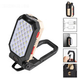 4-Modes COB T6 LEDs Ultra Bright Foldable Camping Lamp Super Bright Portable Survival Lanterns With Magnet Bracket Outdoor Waterproof Emergency Work Light