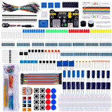 Electronics Component Super Kit with Jumper wires Color Led Resistors Register Card Buzzer for Arduino