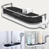 Honana BX-646 Bathroom Pole Shelf Shower Storage Caddy Rack Organiser Tray Holder