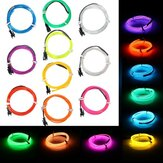1M EL Led Flexible Soft Tube Wire Neon Glow Car Rope Strip Light Xmas Decor DC 12V