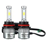 9007 H13 72W 8000LM 6500K Car COB LED Headlight Kit Hi/Lo Bulbs