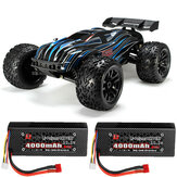 JLB Racing 80A CHEETAH z dwoma akumulatorami 1/10 2,4G 4WD Bezszczotkowy model RC Car Truggy 21101 RTR Model