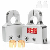 2Pcs Digital Battery Terminal Connectors With Voltmeter 0/4/8 Gauge Power Post