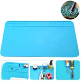 Heat Insulation Silicone Pad Desk Mat Soldering Iron Repair Maintenance Tool Pad