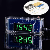 WangDaTao HU-004 Einfache DIY LED Uhrenproduktion Satz 51 Single Chip Microcomputer Lichtsteuertemperatur Digital LED Elektronische Uhr DIY Produktionsteile
