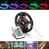 0.5 / 1/2/3 / 4M SMD3528 RGB LED Strip Light Non-impermeabile TV Backlilghting lampada + USB remoto DC5V