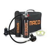 SMACO 1L Oxygen Cylinder (green / orange / black, optional) Diving Glasses Oxygen Cylinder Bag Handbag Scuba Adapter User Manual