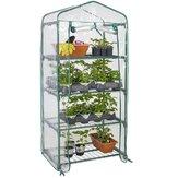 4 Tier Greenhouse Cover Mini Outdoor Indoor Garden Plant Growhouse Cover Tanpa Bingkai