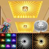 3W Lâmpada de parede moderna LED Lâmpada de teto de girassol Lâmpada de teto para interior Iluminação de corredor Decoração de luminária AC 85-265V