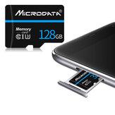 MicroData 128 GB Klasse 10 V30 Hochgeschwindigkeits-TF-Speicherkarte mit maximal 80 MBit / s und Kartenadapter für Mobiltelefon Tablet GPS Kameradrohne