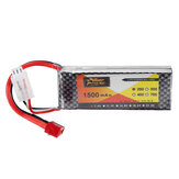ZOP القوة 7.4V 1500mAh 2S 25C Lipo البطارية T Plug for WLtoys 144001 A959-B A969-B A979-B 1/18 Rc Car