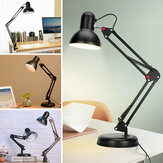 5W Super Bright Swing Arm Desk Lamp Clamp on Table Light with LED Bulb Metal Clip 220V