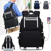 オックスフォードの布は外的なUSBの充満港が付いているラップトップバッグのバックパック旅行袋を防水します