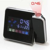 A84503 Projeksiyon Dijital Termometre Erteleme Alarmı Saat LCD Ekran Ekran Hava Termometre
