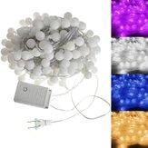 Nueva 20m 200 LED impermeable colorido secuencia de la bola de hadas de la boda decoración de la luz de días festivos 110v