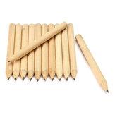 Mới 100 chiếc miễn phí Vận chuyển gỗ Gỗ bút chì ngắn 8,6cm Thân thiện với môi trường Trường học Bút chì cơ học