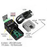 M5Stack ATOM 2D / 1D-Barcodescanner Satz Handheld-WLAN Bluetooth-QR-Codes Barcodes Reader-Unterstützung UIFlow Python