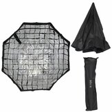 80 CM 31,5 pouces octogonale Flash nid d'abeille Grille parapluie Softbox Photographie Studio Equipment