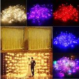 3M 10 W 300 LED 8 Modes Fenêtre Rideau Icicle Chaîne Fée De Vacances Lumière De Mariage Partie US Plug AC110V