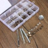 10mm botones botón de presión Poppers artesanía en cuero con el kit de herramientas de fijaciones