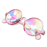 Unisex Party Kaleidoscope Glasses Glass Lens Costume Eyes Mirrored Retro Frame