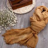 Женский грязный окрашенный хлопок, осень и зима, сохраняет тепло Шея, однотонный защитный однотонный шарф в этническом стиле, шаль