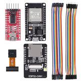 AOQDQDQD® ESP32 CAM WiFi Development Board + ESP-32S Development Board + FT232RL FTDI + Jumper Fio para Arduino Raspberry Pi ESP32 Camera