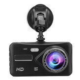 4 Inch 1080P HD Car Dual Lens Front + Rear Car Dash Cam DVR Camera Recorder Touch Screen