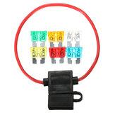 Porte-fusible de lame Standard en ligne de voiture 12 V étanche avec 5A 10A 15A 20A 25A 30A fusibles