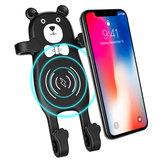 MANMOO BEAR X8 Auto QI Air Vent Draadloze Telefoon Oplader Houder Silicon Gelhouder voor iPhone XS