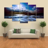 5 Cascade The Blue Sky River Wall Painting Picture Home Decoratie Zonder Frame Inclusief Installa