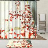 Interior de Navidad Vestido Up Liner de cortina de ducha Impermeable Cuarto de baño Impermeable Alfombra alfombra