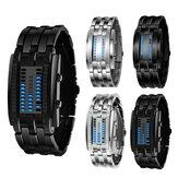 XSVO Fashion Rectangle Dial LED Affichage de la date de l'heure 30M Bracelet en acier étanche Montre numérique pour homme