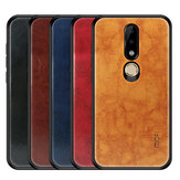 Mofi Shockproof PU Leather Pattern Soft TPU Back Cover Protective Case for Nokia X6 / 6.1 Plus